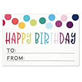 Happy Birthday to from Sticker for Gift Tag Labels - Birthday Present Stickers - Size 3x2 Inches - Pack of 50