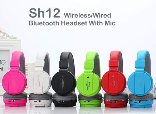 VOSAVO SH12 Foldable On-Ear Wireless Stereo Bluetooth Headphones Supports MP3, FM &...