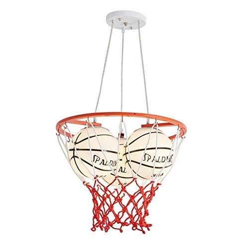 Hoteles Sala De Cristales for lámparas de techo, luz de techo, niños s dormitorio de la lámpara de la lámpara moderna 3 cabezas de baloncesto de la NBA Diseño Luz pendiente pantalla de cristal niños s