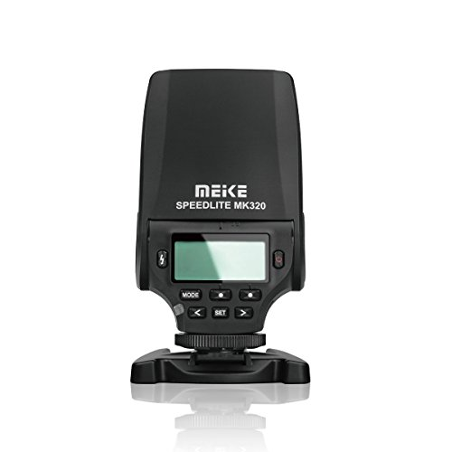 MEKE MK-320S Mini TTL Speedlite Automatic Flash for Sony MI Hot Shoe DSLR and Mirrorless Cameras A7 A7II NEX6 A6000 A6300 A6500