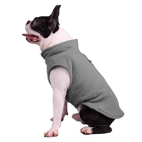 Invierno Fleece Ropa para Mascotas Color sólido Ropa para Cachorros Bulldog francés Abrigo Chaqueta Pug para Perros pequeños