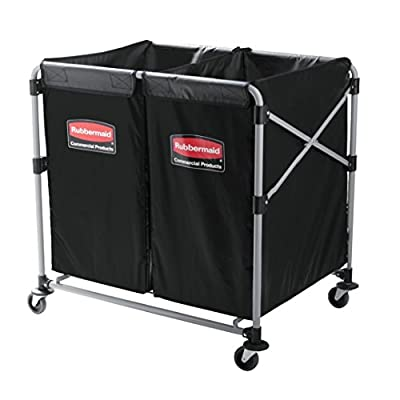 Rubbermaid Commercial Executive Series Collapsible X-Cart, 2 to 4 Bushel, 1881781