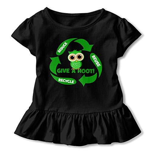 Niñas Manga Corta Divertido Reducir Reutilizar Reciclar Niños Manga Corta T Unisex Ropa de Escalada para bebés Monos Mameluco Manga Corta Ligeros Onesies Negro