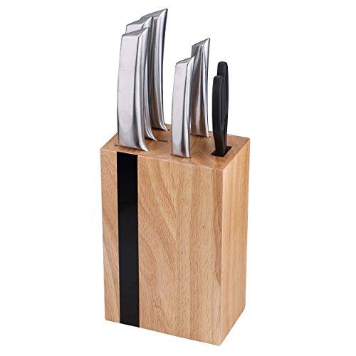 Bergner Keops Steel Set de 5 Cuchillos + Tacoma, Acero...