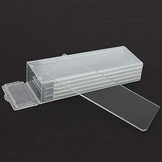 Milageto 50pcs 18mmx 18mm Microscopio Slide Cover Slips Glass Slides Microscope