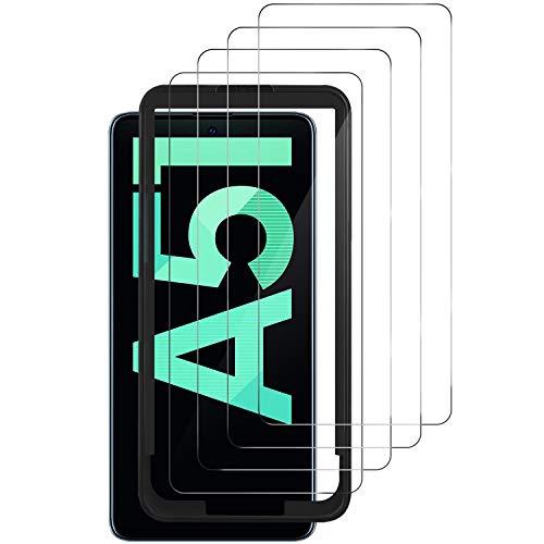 Luibor für Samsung Galaxy A51 Panzerglas(4 Stücke),Anti-Öl Anti-Bläschen Transparenz Gehärtetem Glas Displayfolie Schutzfolie für Samsung Galaxy A51