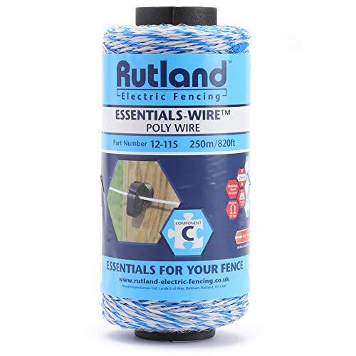 Blanc Rutland 12-117R Bobine de fil de cl/ôture /électrique