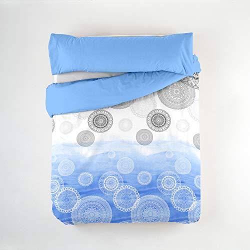 BAILARINA - Funda nórdica Gabriela. Cama 105 cm. Azul