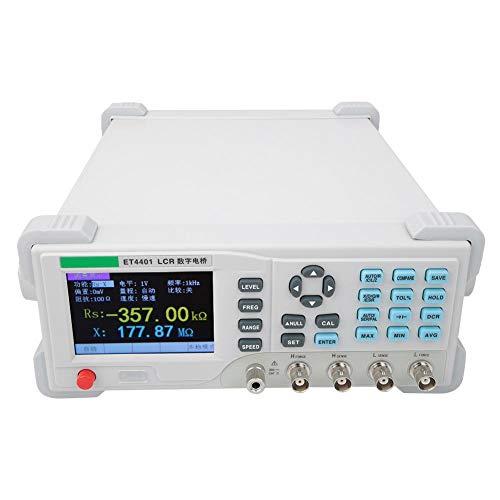 Digitales LCR-Messgerät,3,5-Zoll-TFT-Display Präzisionsinstrument Tisch-Brückenmessgerät Kondensatorwiderstand Impedanz-Induktivitätsmessgerät-Tester mit Unterbrechungs- und Kurzschlusskorrektur(EU)