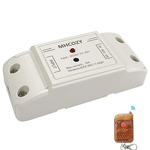 MHCOZY Smart Switch Inching/Selbsthemmung WLAN-Relais, WIFI zum Garagenkamin hinzufügen (7-32V WIFI RF)