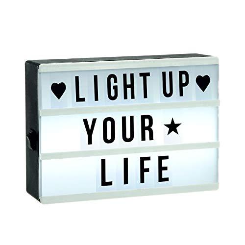 LED Leuchtkasten LIGHT BOX mit 60 Buchstaben und Symbolen