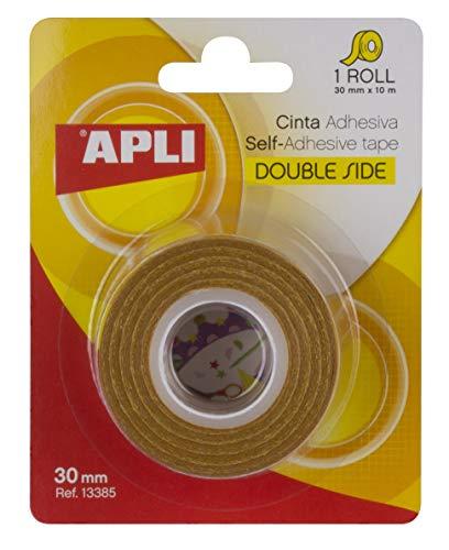 APLI 13385 - Cinta adhesiva celo doble cara 30 mm x 10 m