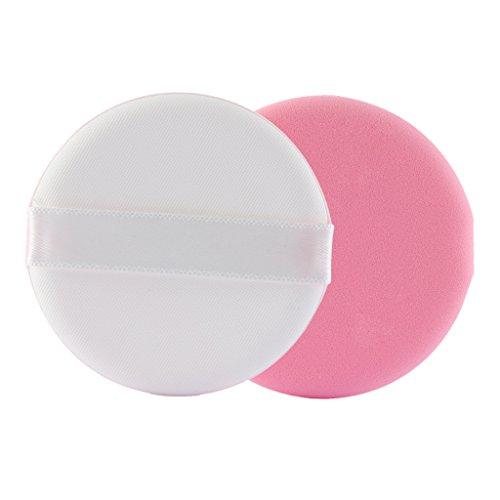 MagiDeal 8x Maquillage Flawless Blender Foundation Puff Eponge Reutilisable pour Fond de Teint Poudre Crème Faciale - Rose