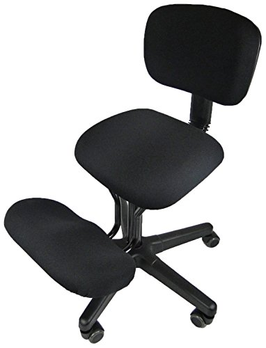 Jobri Unisex's Solace Kneeling Chair-Black, 61 x 66 x 25 cm