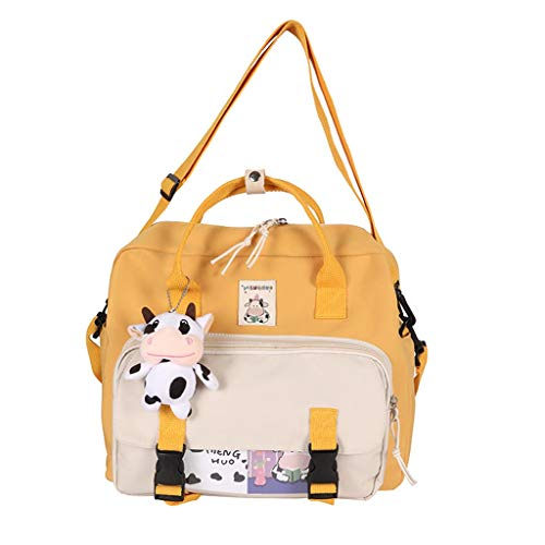 Backpack Women's Aisumi Beautiful Multifunctional Backpack Teenager Girls Ring Buckle Shoulder Bag Portable