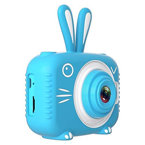 Cámara Infantil Impermeable 1080p HD Cámara de Pantalla HD Video Toy 8 Millones Pixel Niños Dibujos Animados Cámara Linda Fotografía Al Aire Libre (Bundle : 16G, Color : Blue)
