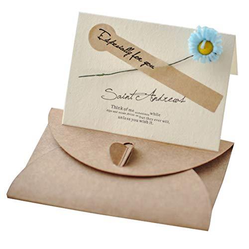 Lumierechat メッセージ カード メッセージカード ミニ プチ 一言メッセージ お礼 フラワー 席札 結婚式 テーブル 多目的 封筒 付き a-9186(30枚/ブルー)