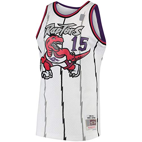 BFDEZ Toronto Custom Carter Camiseta de baloncesto Vince Top sin mangas Raptors – Blanco – # 15 Hardwood Classics Swingman Jersey Icon Edition