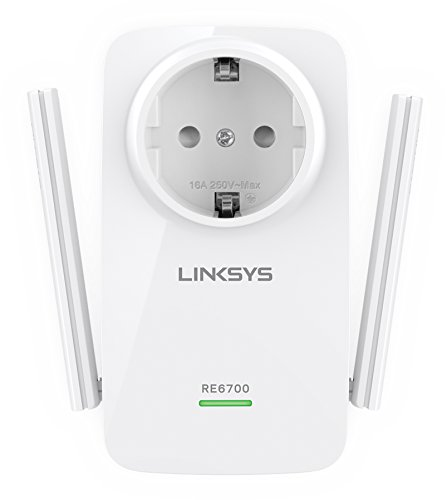 Linksys Re6700-Eg Ac1200 Amplify Dubbelband Wi-Fi Repeater, 750 Mbit/S, Wit