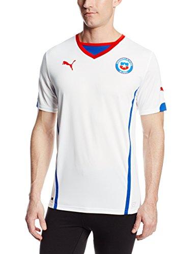 Puma Camiseta de fútbol Chile Away para hombre - 74450306, M, Blanco