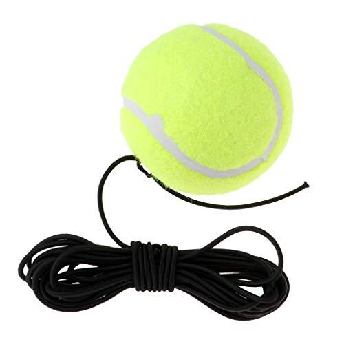 MagiDeal Cordon Élastique Balle, Accessoire d'entrainement de Tennis, Balle de Tennis Élastique avec Cordon