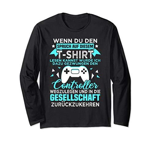 Gamer Zocker Games Pc - Lustiges Gaming Spruch Langarmshirt