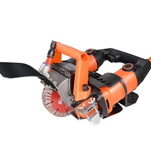 Huanyu Rozadora Eléctrica Ranuradora de Pared Sierra de Ladrillo Alta Potencia 10500RPM 220V 5200W Profundidad 0 a 45/72mm