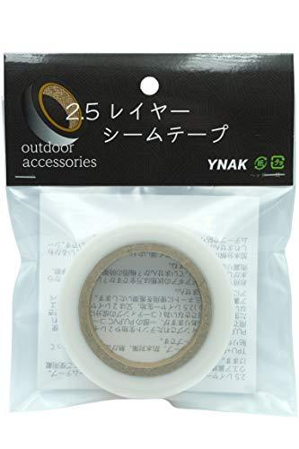 YNAK シームテープ レインウェア 2.5レイヤー 対応 テント不適正 縫い目 補修 リペア シームレス 防水 対策 メンテナンス 用 アイロン接着 (幅18mm×長さ20m,厚さ0.11mm 透明)