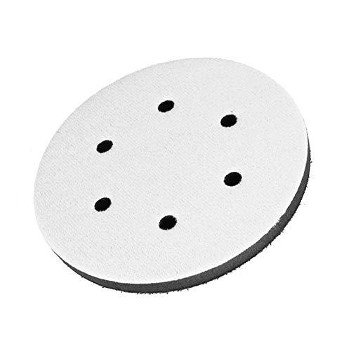 Almohadilla de interfaz, almohadilla suave para lijar con amortiguación suave de reducción de ruido, máquina de pulir para(6 inch 6 holes)