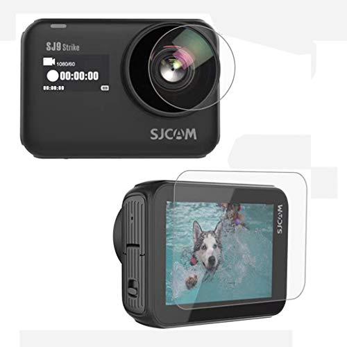 Flycoo2 Protection Film Protecteur d'Ecran d'Objectif pour SJCAM SJ9 SJ9Strike SJ9Max SJCAM4000X Verre trempé