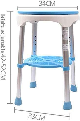 In hoogte verstelbare kunststof kinderstoel, douchekruk oude man toiletten met draaibare zitting