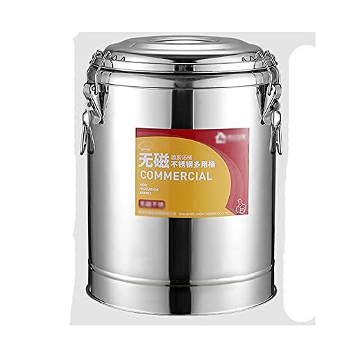 Cazos de Cocina, Ollas de sopa con tapas, barril de aislamiento, barril de almacenamiento de agua de acero inoxidable / barril de sopa / tanque de transporte / barril sellado / barril vintage,