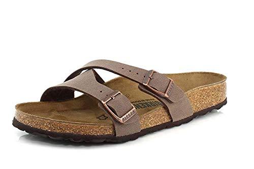 Birkenstock Women's Yao Sandal Mocha Birkibuc Size 40 N EU