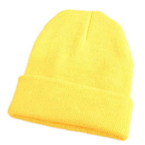 Collecsound - Gorro de punto para esquí, elástico, cálido para el invierno, estilo hip-hop, para hombre y mujer