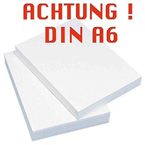 INDIGOS Kopierpapier Druckerpapier, DIN A6, 2000 blatt