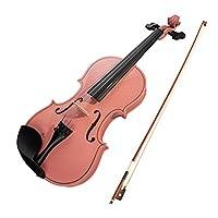 Walory 初心者のためのバイオリン、4/4バイオリンメイプルウッド素材、ギグバッグ付きソリッドウッド擦弦楽器、初心者向け