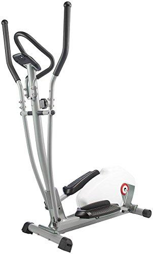 PEARL sports Heimtrainer: Komfort-Crosstrainer mit 5 kg Schwungmasse, Pulsmesser (Fitnessgerät)