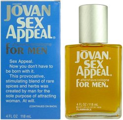 Jovan Sex Appeal By Jovan For Men. Cologne / Aftershave 4.0 Oz.