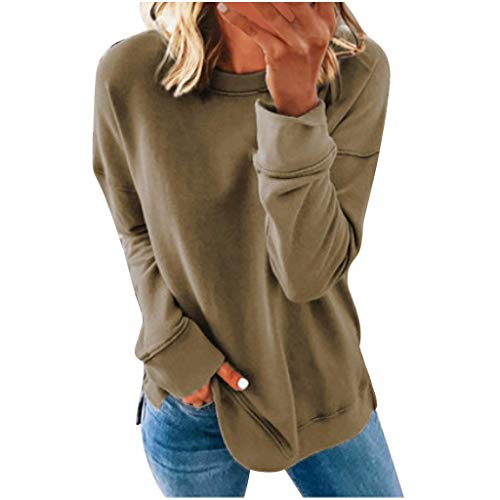 Beiläufige Pullover Langarm T-Shirts Casual Loose Sommershirt Sweatershirt Oberteiles Tops Strandshirt
