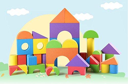 FEI Jouets Les enfants en mousse EVA Building Blocks éponge douce Building Blocks, jardin d'enfants 3-6 Ans Bloc de prendre la machine en bois jouets éducatifs pour enfants (une variété de tailles en option) Début Éducation