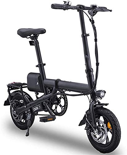 RDJM Bici electrica 12' Adultos Plegable Bicicleta eléctrica Plegable, E-Bici Ligeros con 350W / 36V de la batería Velocidad máxima 25 kilometros/h for Adultos y Adolescentes y Commuters compiten, c