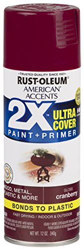 Rust-Oleum 327893 American Accents Spray Paint, 12 Oz, Gloss Cranberry