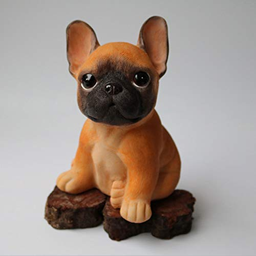 NYDZ Miniature French Bulldog Fawn Tiny One Figurine/French Bulldog Tiny Miniature One Christmas Ornament Fawn/6.1x4.3x4inches (Color : Beige)