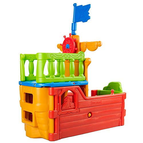 ECR4Kids Indoor/Outdoor Buccaneer Pirate Play Boat for Kids at Home or Daycare