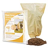 """Kupton Plant Covers Freeze Protection, 47.24""""×70.87"""" Upgraded Thickness Outdoor Plant Covers for Winter Frost Cover Anti-Freeze Jacket Warm Blanket for Shrub and Trees (2 Pack)"""