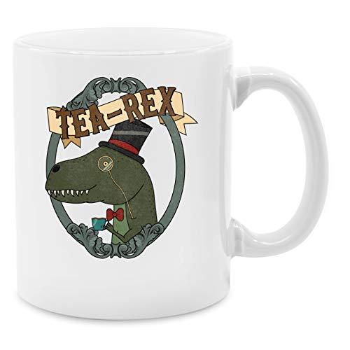 Statement Tasse - Tea-Rex Rahmen - Unisize - Weiß - geschenk rahmen - Q9061 - Kaffee-Tasse inkl. Geschenk-Verpackung