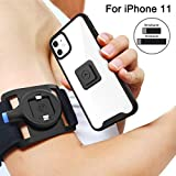 SPORTLINK Running Armband for iPhone 11, Sports Wristband with Protective Rugged Case, Easy Mount Phone Holder for Running Jogging Gym Exercise Workouts (6.1 Inch)