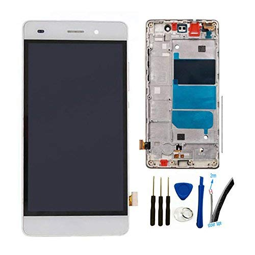 5.0'' LCD + TP Replacement For Huawei P8 Lite ALE-L04 L21 TL00 L23 CL00 L02 UL00 Display Touch Screen digitizer glass Assembly (white w/ frame)