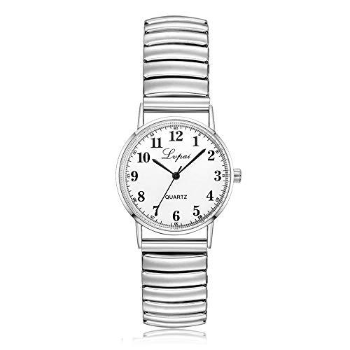 Beobachten Große Und Kleine Neue Uhr Große Stahlband Quarzuhr Geschenkuhr-Weiße Nudeln - Klein