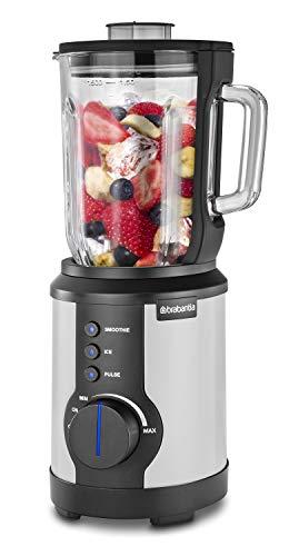 Brabantia D10-2W Standmixer - Smoothiemaker - 1000 Watt - 1,5 Liter - Ice, Smoothie, Puls (Weiß)
